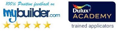 mybuilder logo dulux academy logo